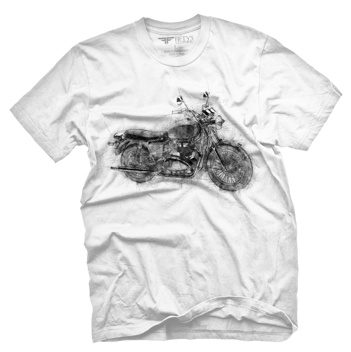 Fifty5 Clothing Vintage Bike Sketch Men's T Shirt