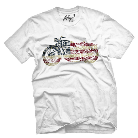 American Flag Vintage Motorcycle Men's T Shirt