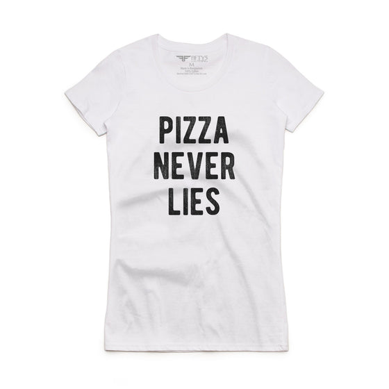 Fifty5 Clothing Pizza Never Lies Women's Crew Neck T-Shirt