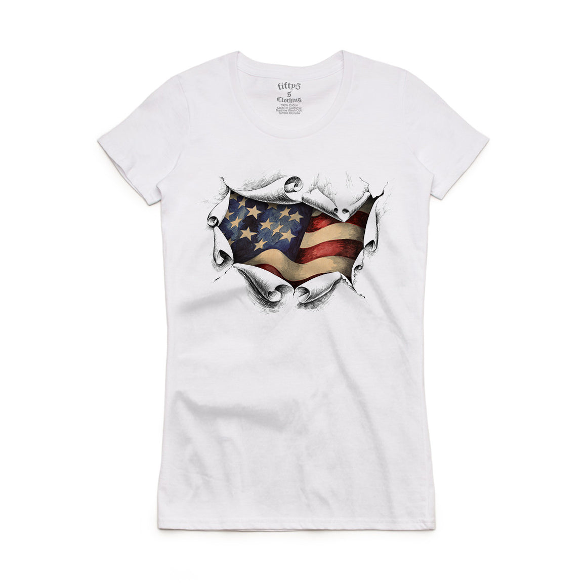 Fifty5 Clothing American Women's Crew Neck T-Shirt