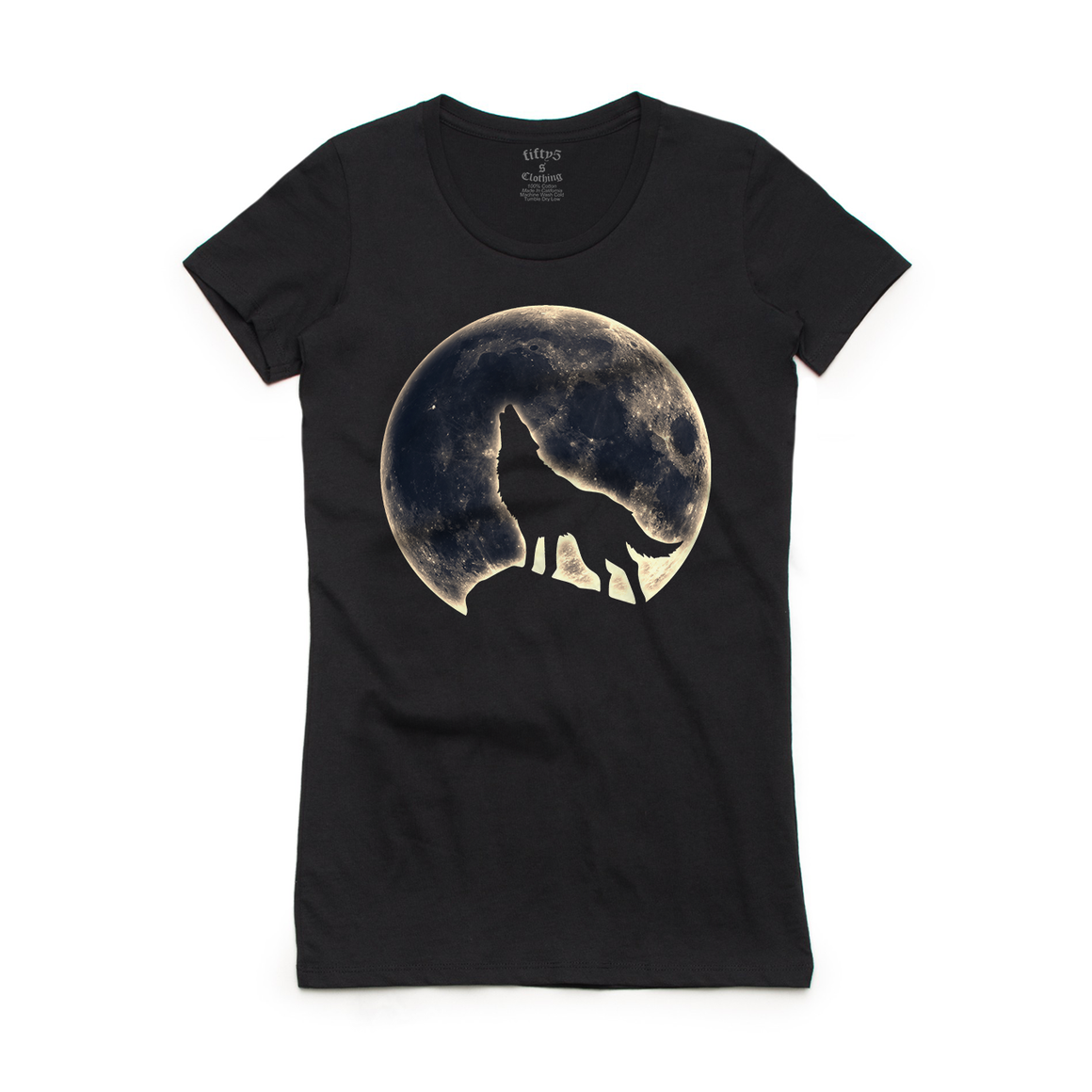 Fifty5 Clothing Howl At The Moon Women's Crew Neck T-Shirt
