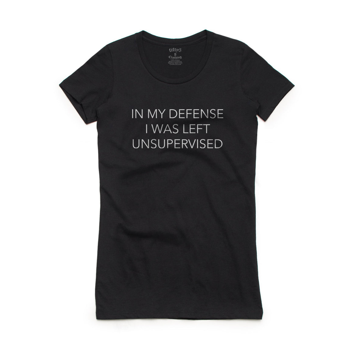 Fifty5 Clothing In My Defense Women's Crew Neck T-Shirt