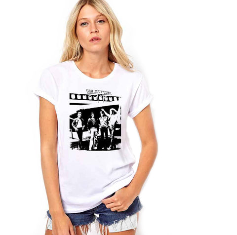 Led Zeppelin Silhouette Women's Crew Neck T-Shirt