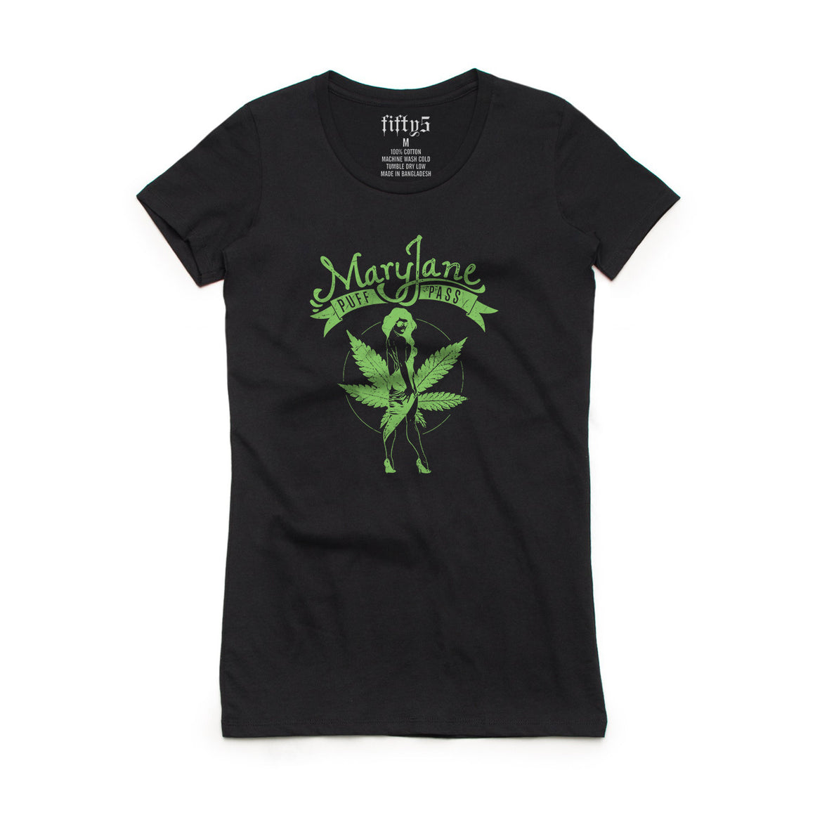 Fifty5 Clothing Mary Jane Puff Pass Women's Crew Neck T-Shirt