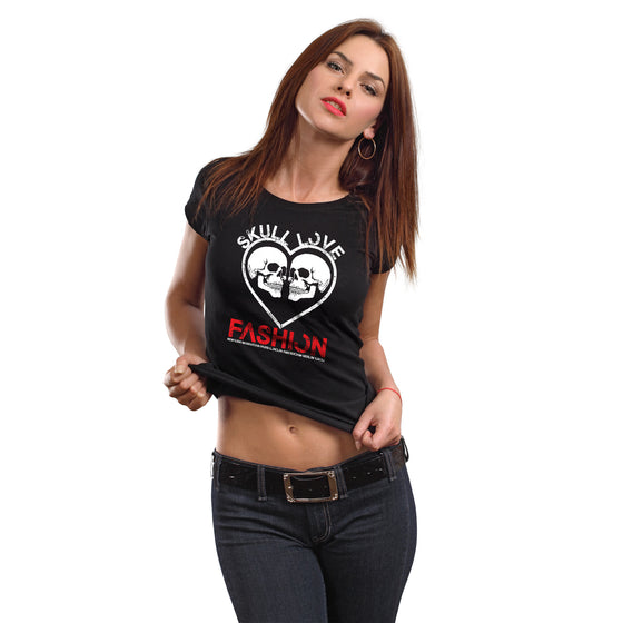 Skull Love Fashion Women's Crew Neck T-Shirt