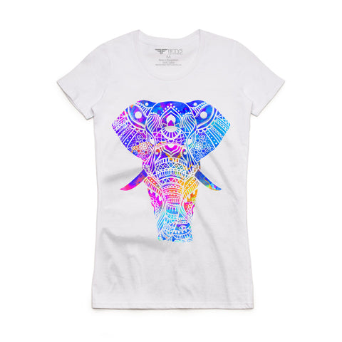 Fifty5 Clothing Water Color Elephant Women's T-Shirt