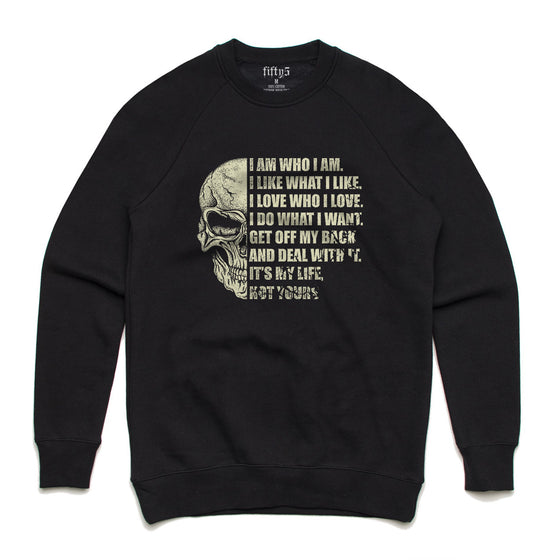 I Am Who I Am Premium Box Crew Unisex Sweatshirt