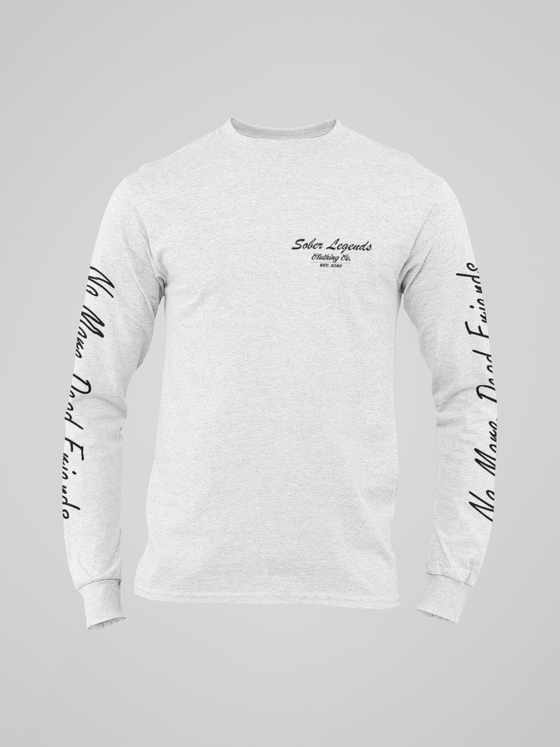 "Sober Legends Clothing X Drop Top Company ""No More Dead Friends"" Womens Long Sleeve"