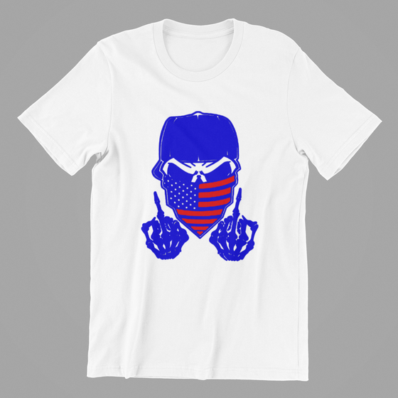 Fifty5 Finger Skull Blue With Red
