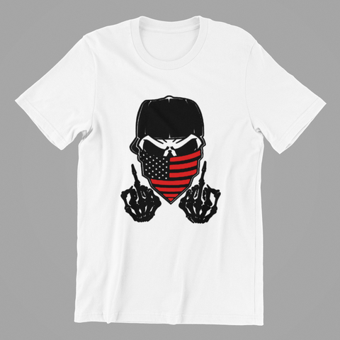 Fifty5 Finger Skull Black With Red