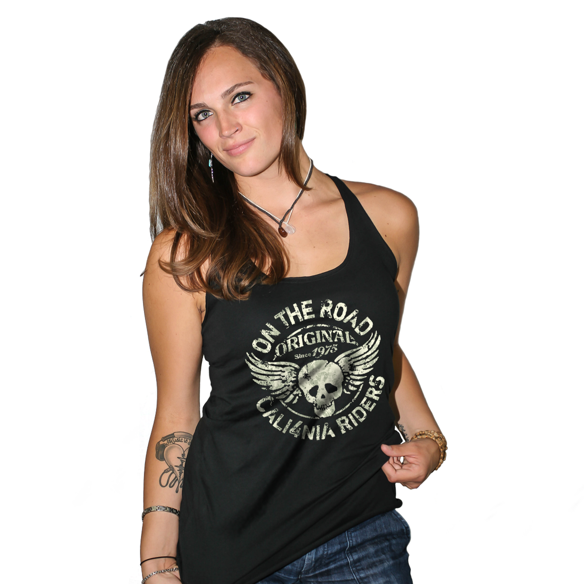 On The Road Original Vintage Women's Racerback Tank Top