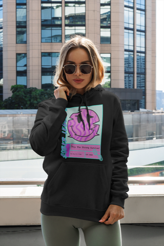 """One Day At A Time"" Mid Weight Pullover Hoodie Black"