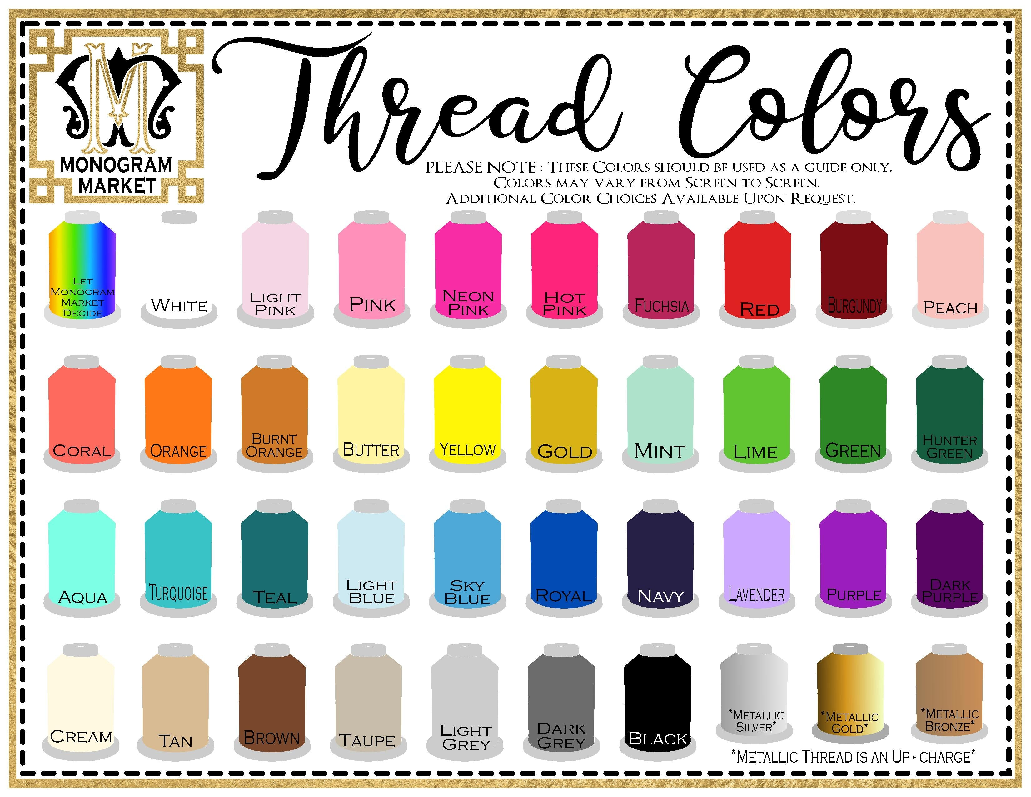 Embroidery Thread Chart