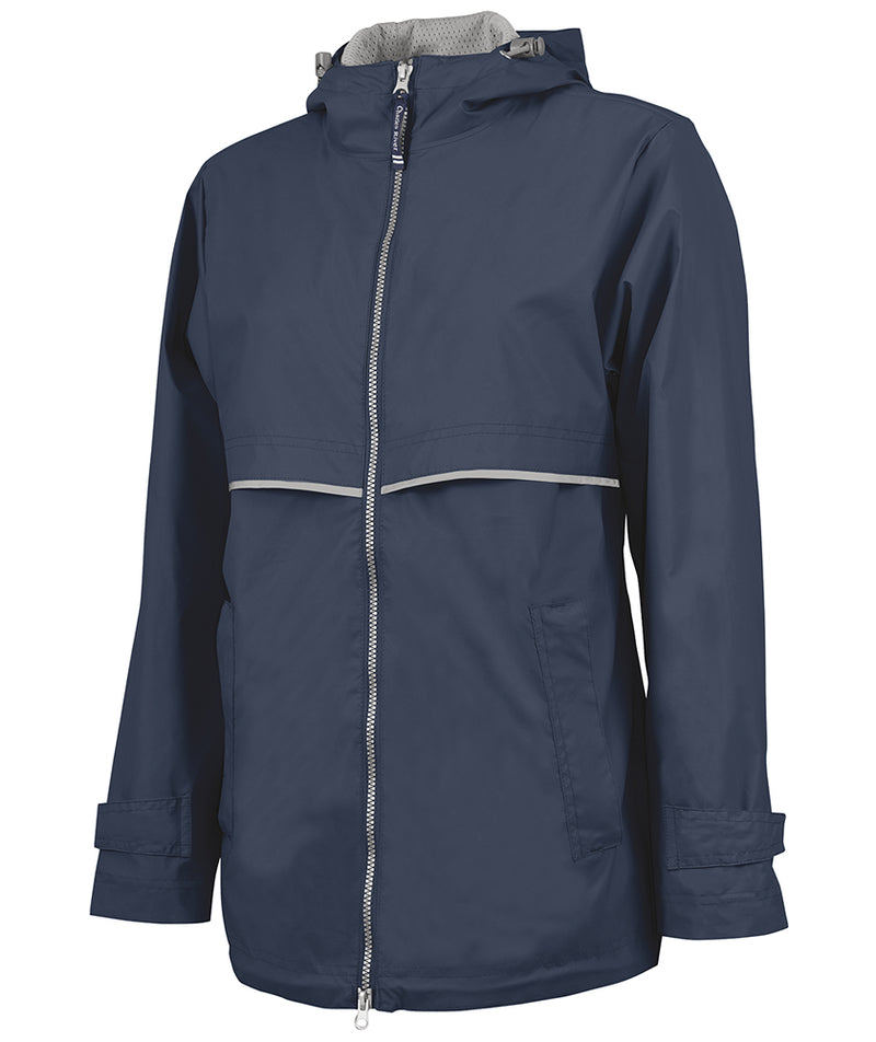 Charles River New Englander Rain Jacket, Navy - Monogram Gifts