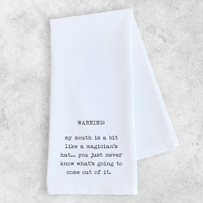 DEV D + CO. - Magician's Hat - Tea Towel - Monogram Gifts
