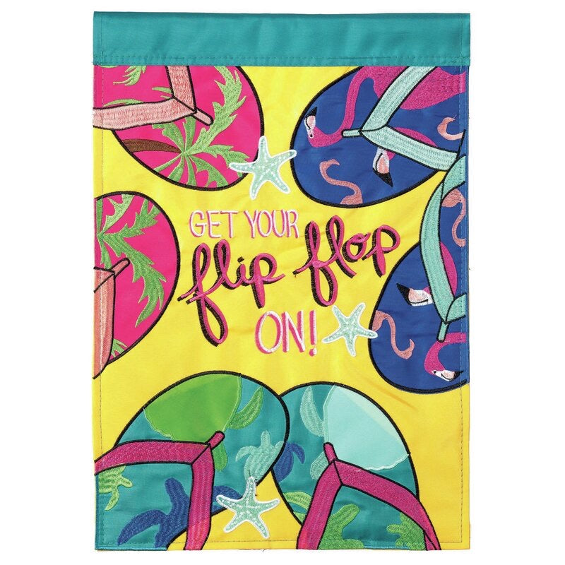 Get Your Flip Flop On Garden Flag - Monogram Gifts