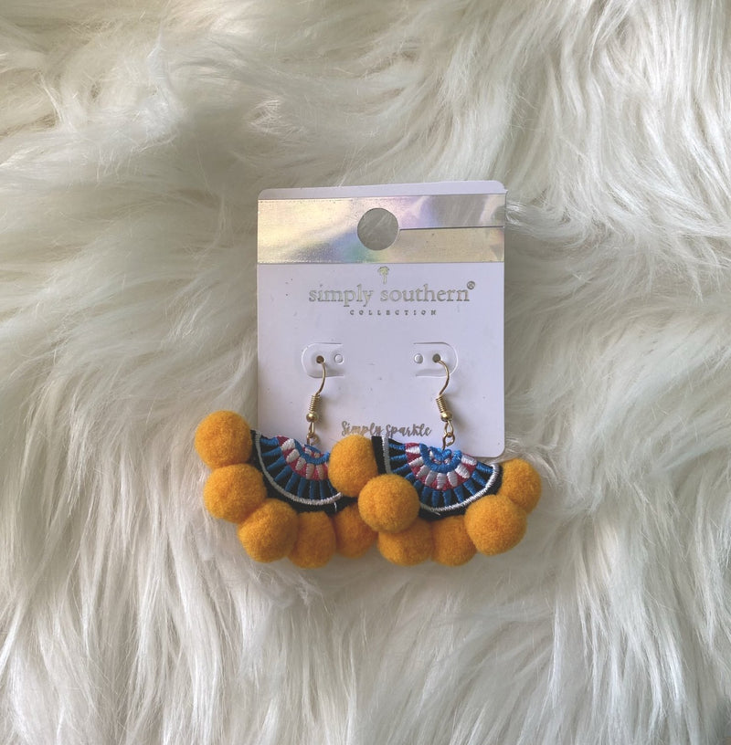 Simply Southern Pom Pom Earrings - Monogram Gifts