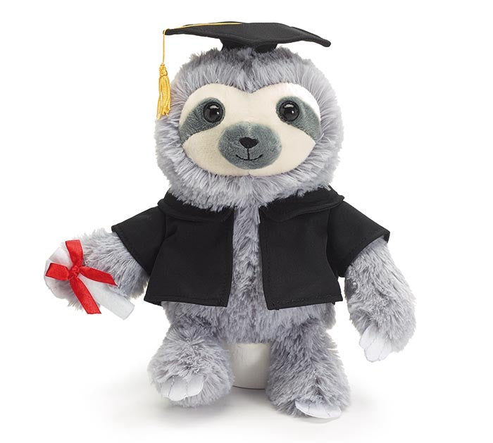 Plush Graduation Sloth w/Diploma - Monogram Market