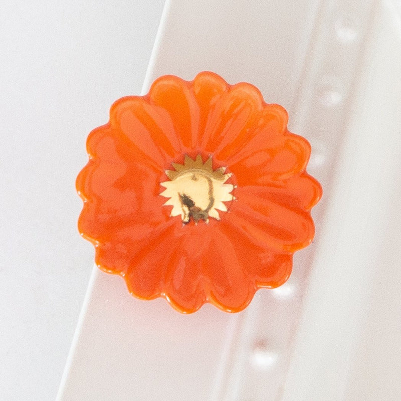 Nora Fleming Orange Flower Power Mini, LIMITED EDITION - Monogram Gifts