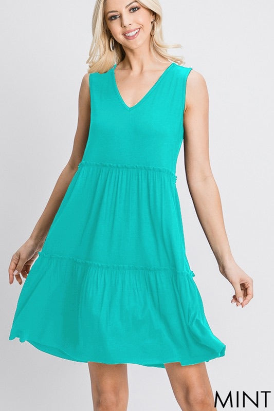 Tiered Mint Dress - Monogram Market