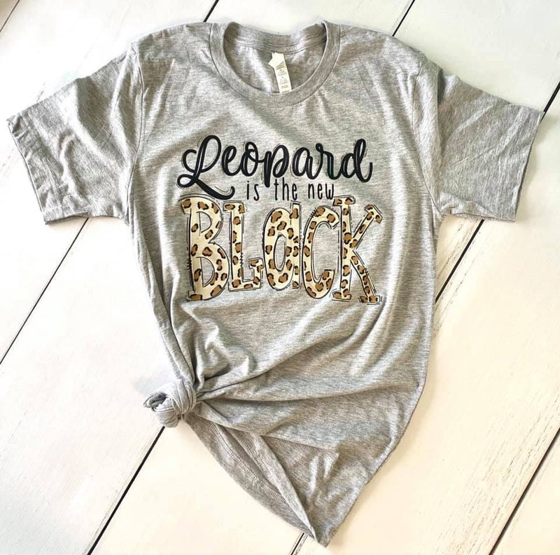 Leopard is the New Black, Printed Tee - Monogram Gifts