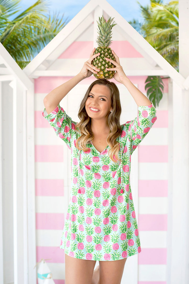 Beach Tunic / Cover Up, Pineapple - Monogram Gifts