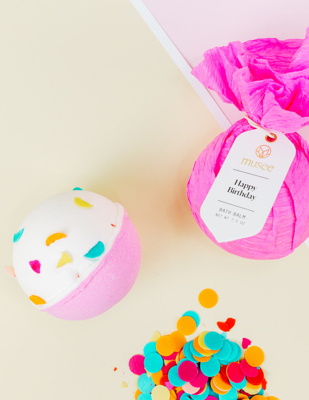 Musee Bath Bomb - Happy Birthday - Monogram Gifts