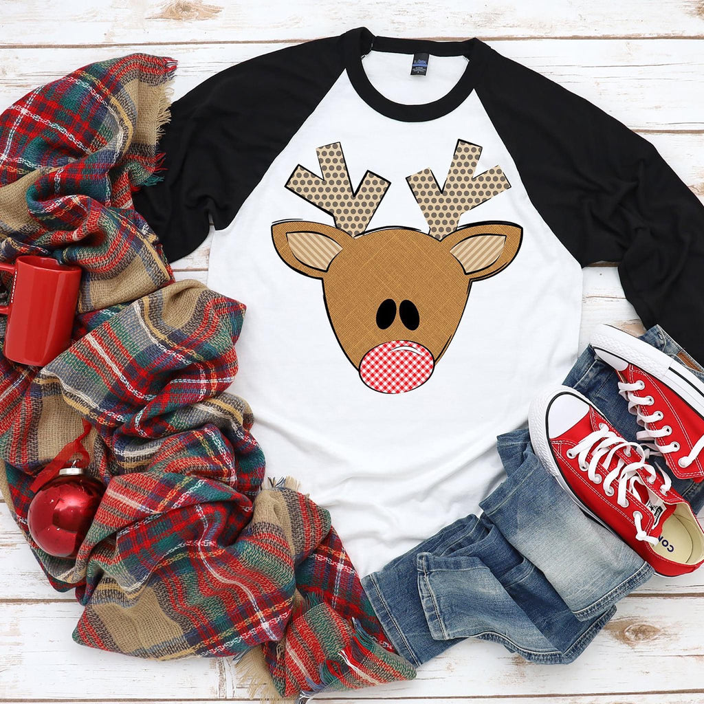 Toddler/Youth Boy Reindeer, printed tee - Monogram Gifts