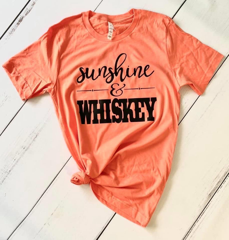 Sunshine and Whiskey, Printed Tee - Monogram Gifts