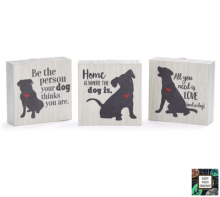 Wood Block Dog Shelf Sitters - Monogram Market