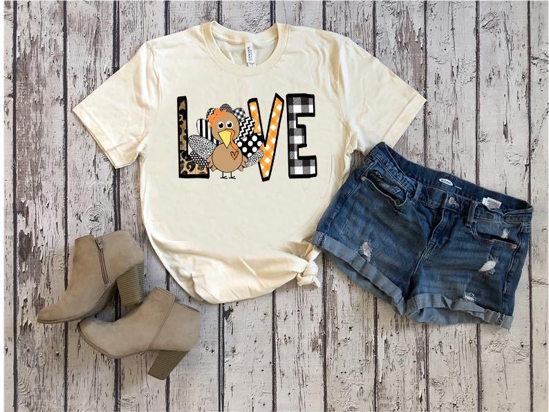 Turkey LOVE, printed tee - Monogram Market
