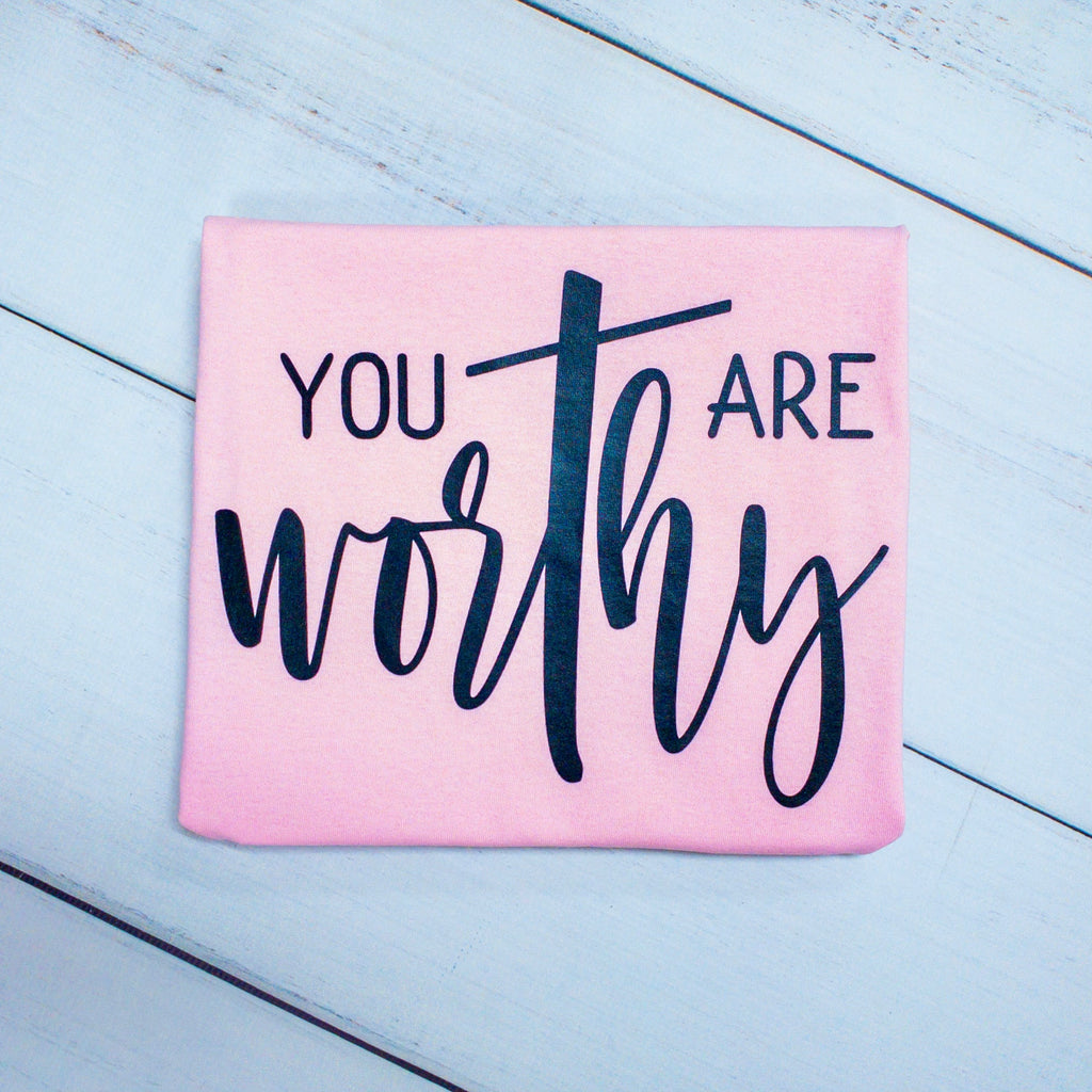 You Are Worthy, printed tee - Monogram Market
