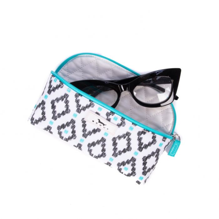 "SCOUT ""Eye Candy"" Glasses Case, Teal Diamond - Monogram Market"