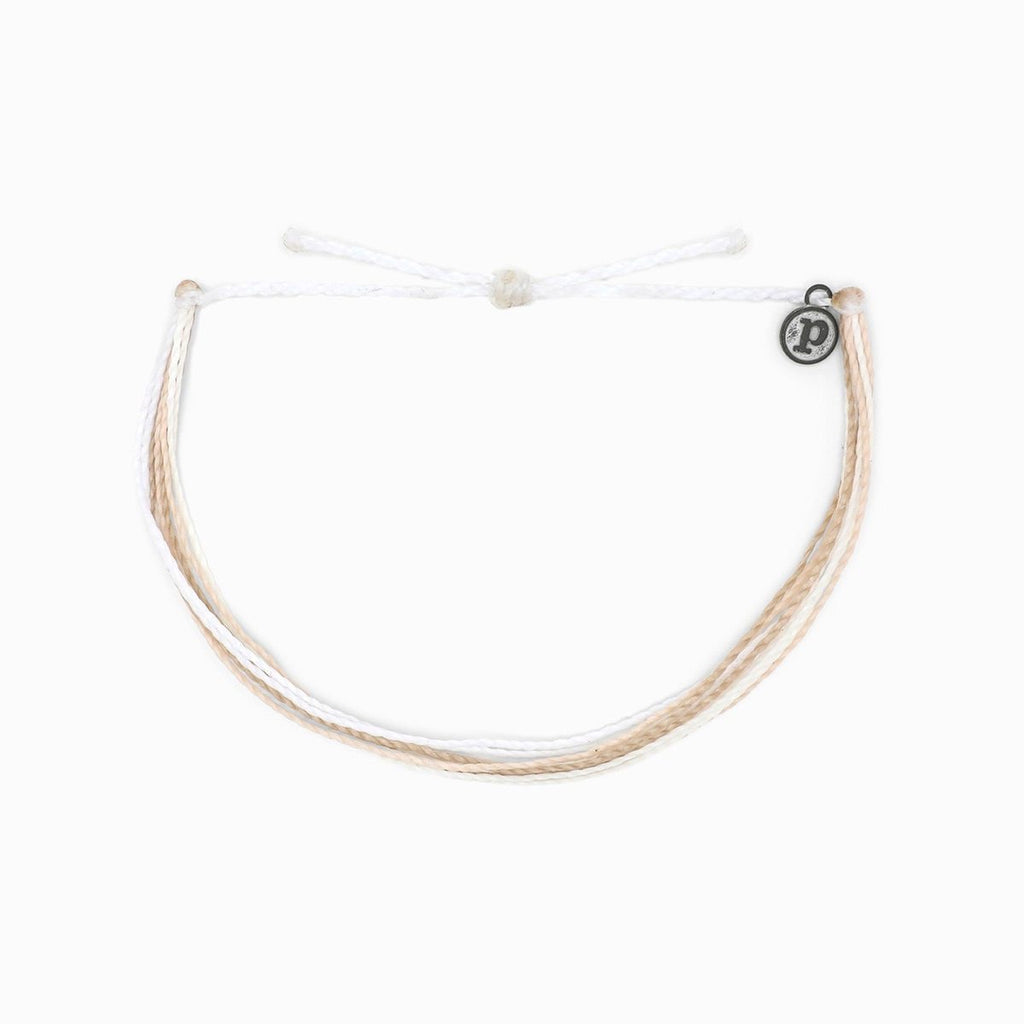 PuraVida, Original Anklet, White Sands - Monogram Gifts