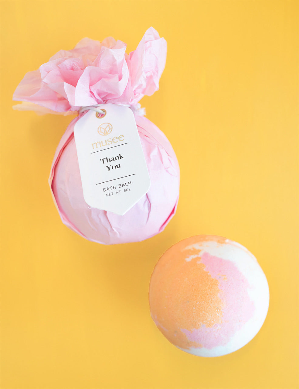 Musee Bath Bomb - Thank You - Monogram Gifts