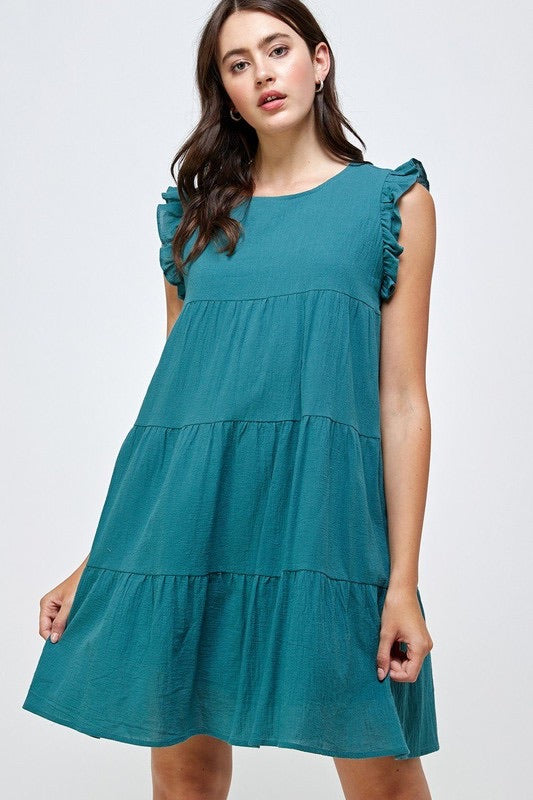 Ruffled Tiered Dress - Monogram Market