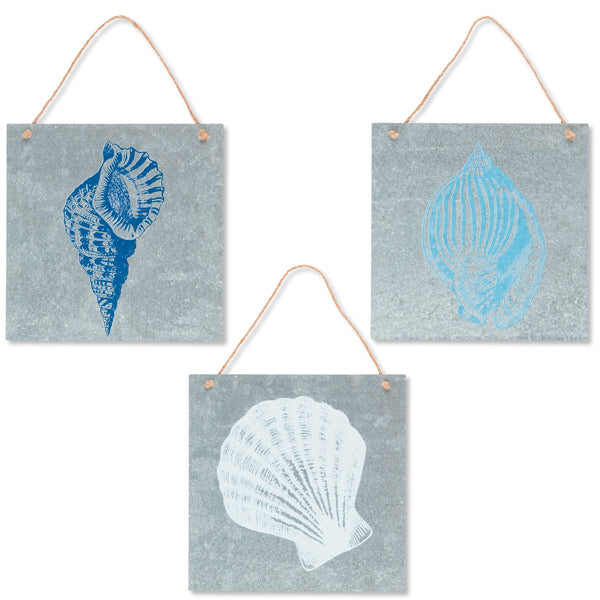 Metal Seashell Wall Decor - Monogram Gifts