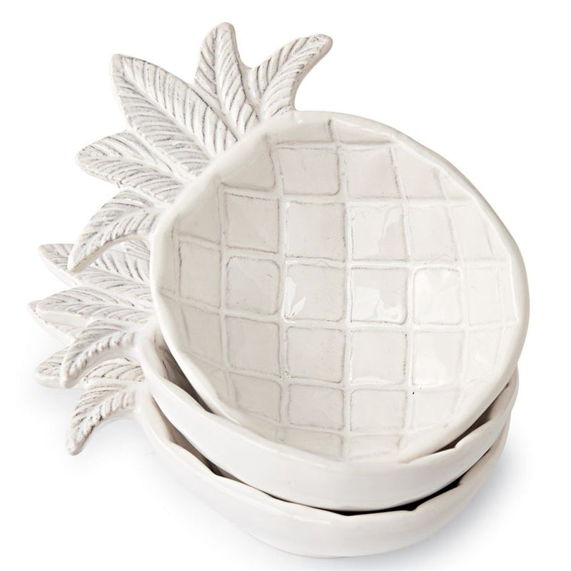 Mud Pie Pineapple Dip/Condiment Bowls - Monogram Gifts