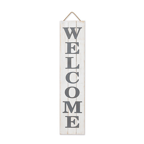 Wood Welcome Wall Hanging/Porch Sitter *Store Pickup Only* - Monogram Gifts