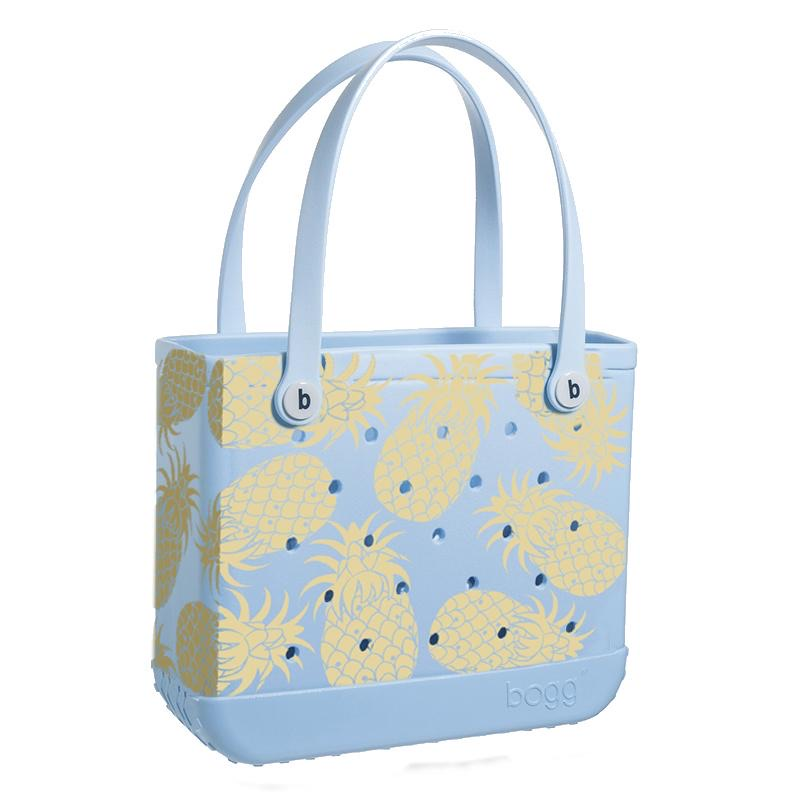 Baby Bogg Bag - Small Tote, LIMITED EDITION Carolina Blue with Pineapples - Monogram Market
