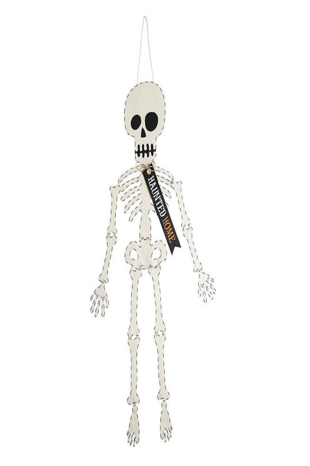 Mud Pie Skeleton Door Hanger - Monogram Gifts