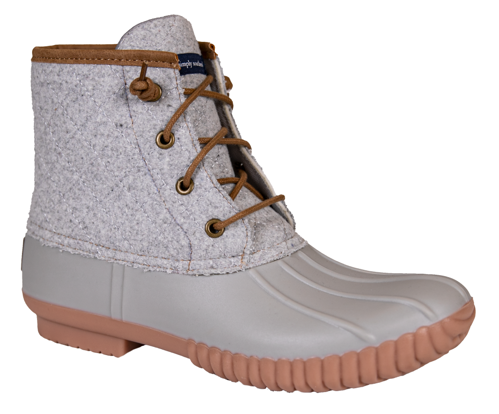 Simply Southern Duck Boots in Heather Gray - Monogram Gifts