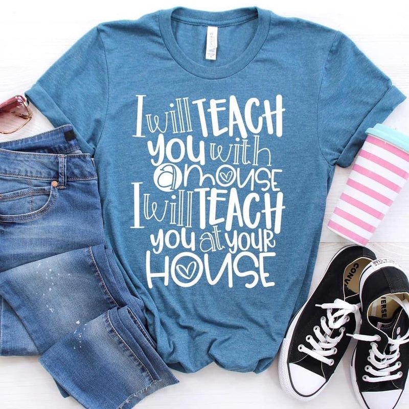 Teach You With A Mouse, printed tee