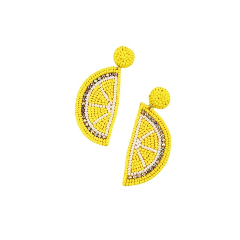 Fresh Lemonade Seed Bead Earrings - Monogram Gifts