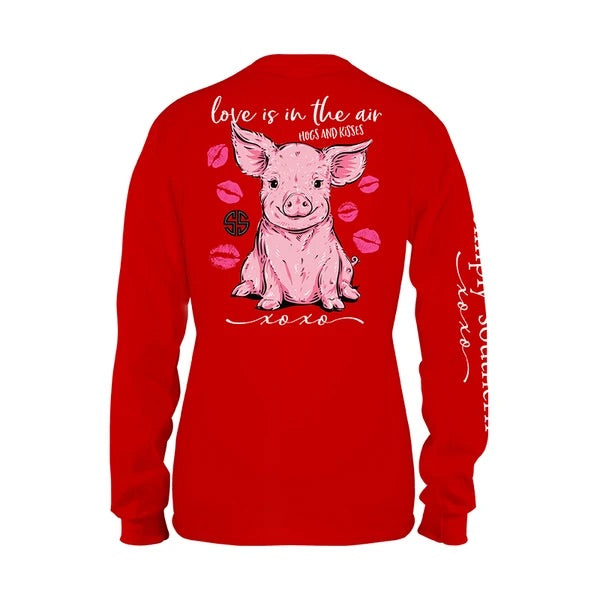 Simply Southern - Love Red Long Sleeve Tee **PRE ORDER - Monogram Gifts