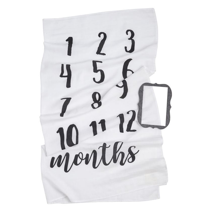 Mud Pie Monthly Milestone Blanket - Monogram Gifts