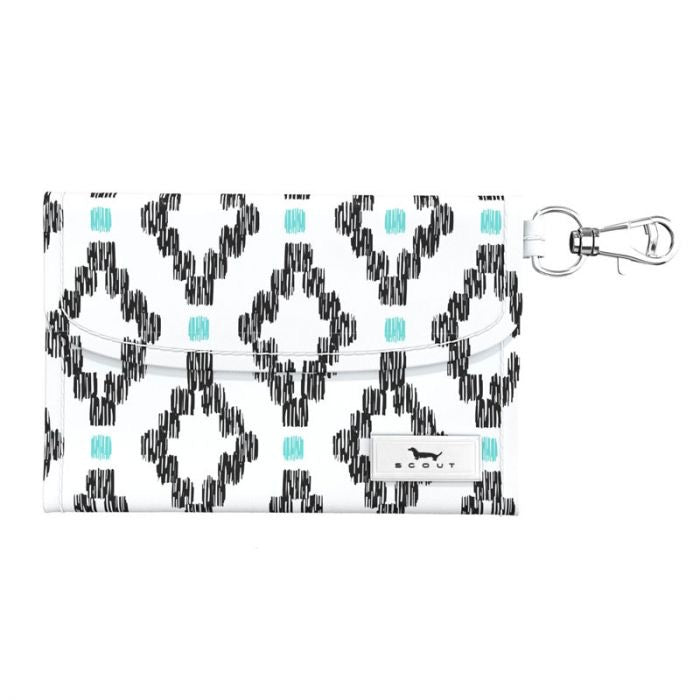 "SCOUT ""Street Cred"" Card Holder, Teal Diamond - Monogram Market"