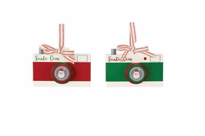 Mud Pie Christmas Santa Cam Ornament