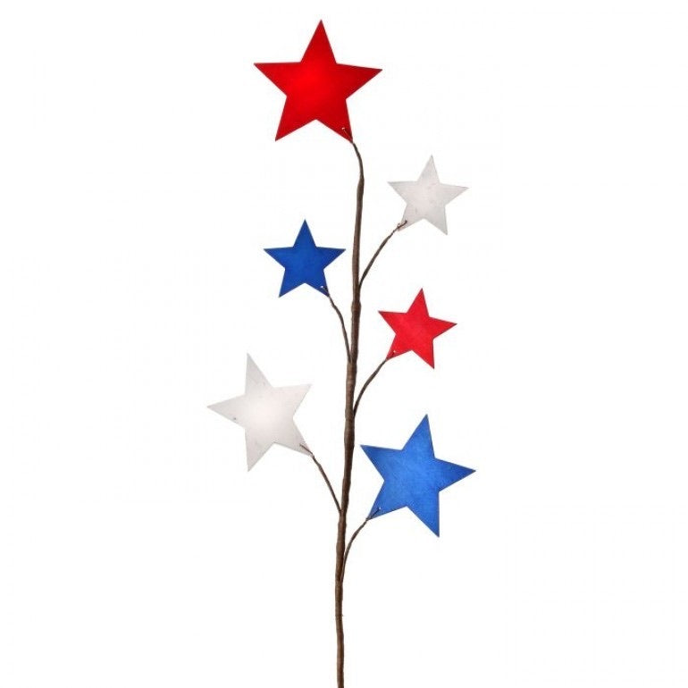 Patriotic Wood Star Spray - Monogram Market