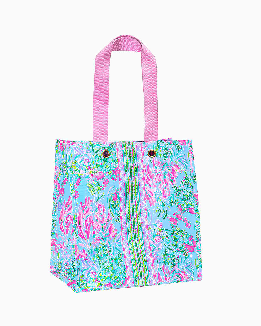 Lilly Pulitzer Market Tote, Best Fishes - Monogram Market